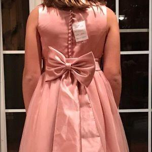 David's Bridal flower girl dress in Blush